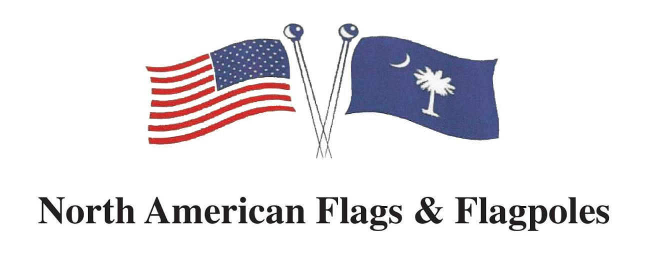North American flags and flagpoles logo