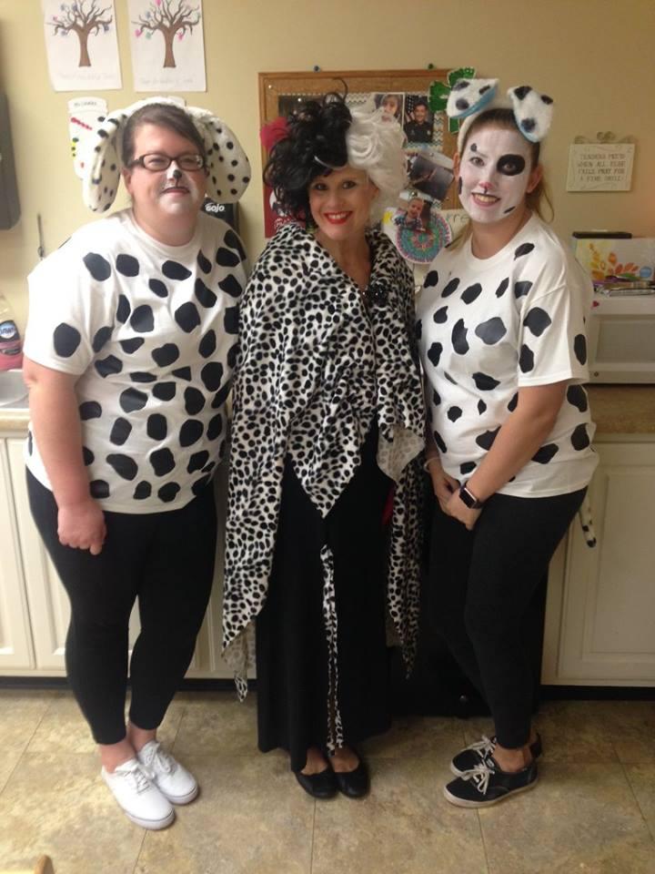 prep school teachers dressing up as cows